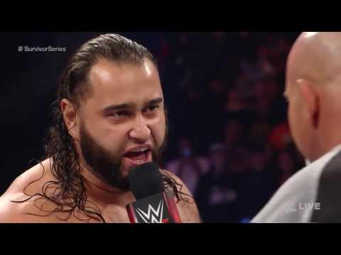 Goldberg Hit  Ultimate Jackhammer To Rusev...