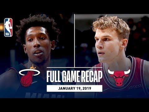 Chicago Bulls vs Miami Heat Full Game Highlights I January 19, 2019
