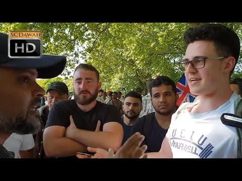 P1 - Off With The Veil!?  Hashim Vs German Christian | Speakers Corner | Hyde Park