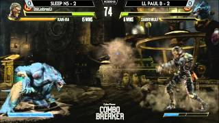 Killer Instinct Saucey Suite @ Combo Breaker 2015 - Sleep NS vs LL Paul B [720p/60fps]