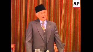UK: INDONESIAN VICE PRESIDENT HABIBIE SPEAKS AT BUSINESS LUNCH