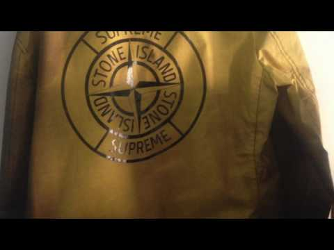 Stone Island x Supreme heat reflective trench coat 00a45fd16d43