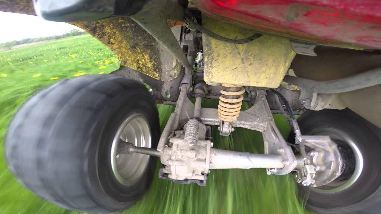 rear suspension view suzuki 250 quadsport - youtube