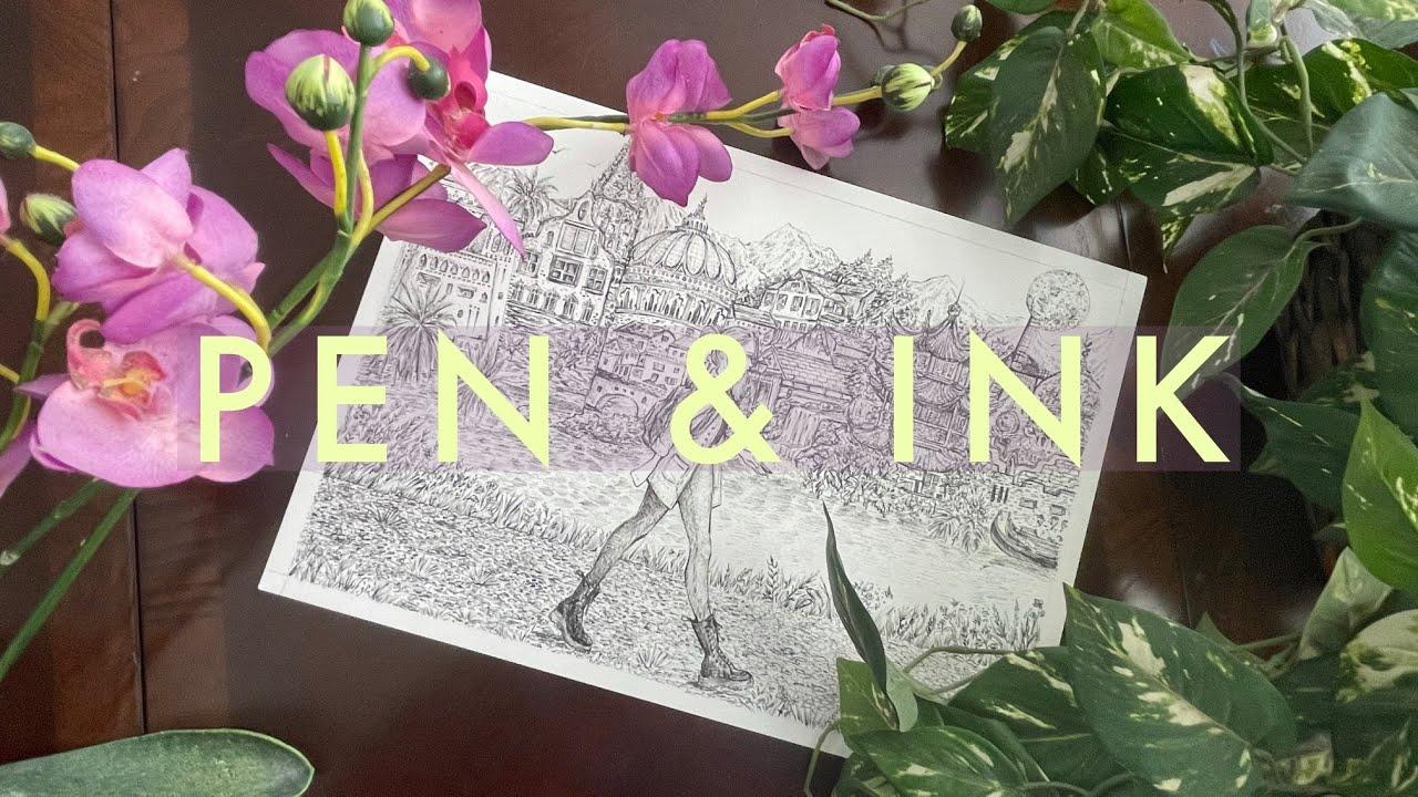[VIDEO] ✒️10 Pen & Ink Techniques