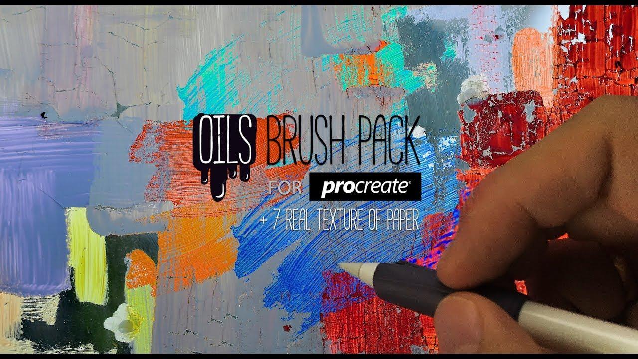 RAZUM_INC OILS BRUSH PACK for Procreate