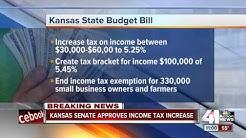 Kansas Legislature passes big income tax hike to help balance state budget