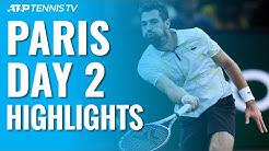 Chardy Ends Medvedev Streak; Struff Ousts Defending Champion Khachanov   Paris 2019 Highlights Day 2
