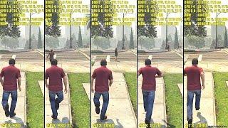 Скачать GTX 1080 Vs GTX 1070 Vs GTX 1060 Vs GTX 980 TI Vs GTX 980 GTA 5 Frame Rate Comparison