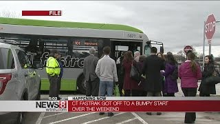 Late buses, mechanical glitches for CT Fastrak