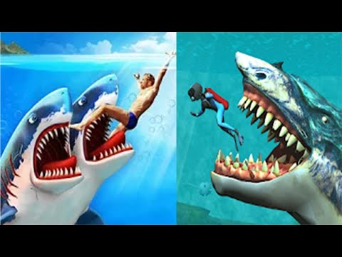 Double Head Shark Attack - Multiplayer VS Whale Shark Attack Simulator 2020  - All Sharks Unlocked