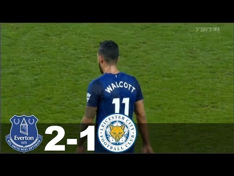 Theo Walcott's Debut Goal For Everton vs Leicester City 31/01/2018 HD