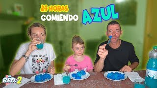 24 HORAS COMIENDO AZUL  All Day Eating Blue Food Challenge Enreda2