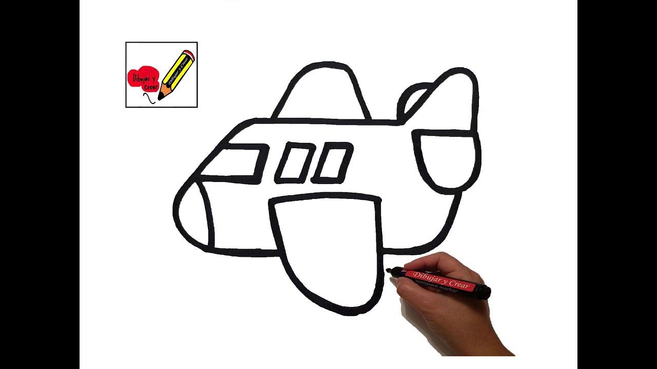 Como dibujar un avion dibujo para ni os youtube - Papel para dibujar ...