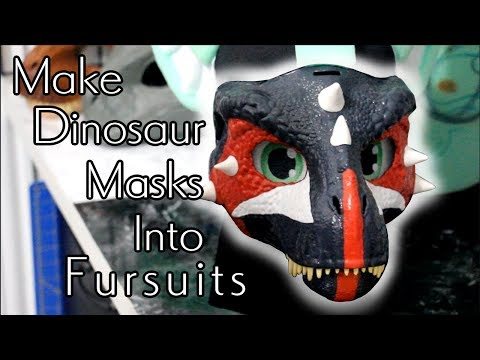 How To Make Dinosaur Masks Into Fursuits || Enhancing Your Dino