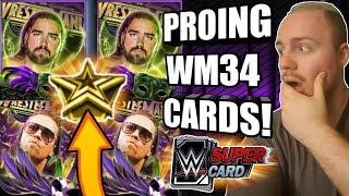 PROING 2 WRESTLEMANIA 34 CARDS! FUSION PRO WM 34 AND MIZ WM34 PRO! Noology WWE SuperCard Season 4