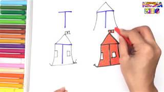 How To Draw and Color a Tent Easy Steps By Step ✅How To Teach Baby To Speak English
