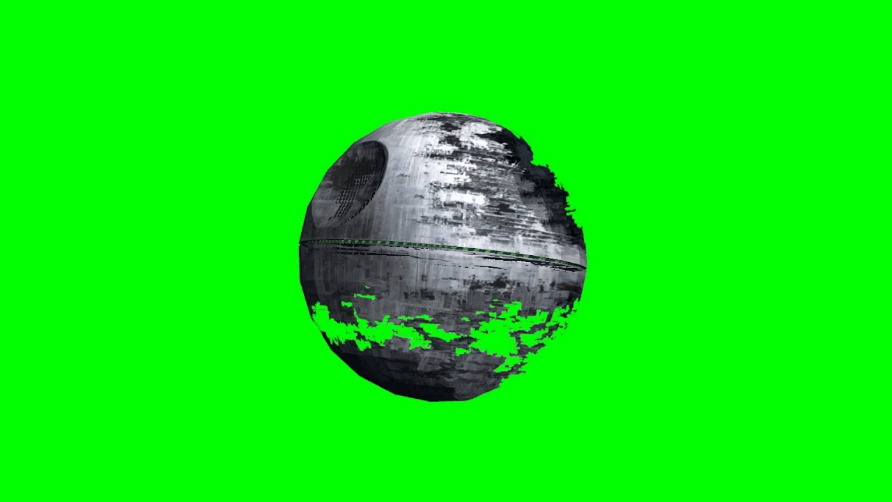 3d Objects Death Star Free Green Screen Youtube