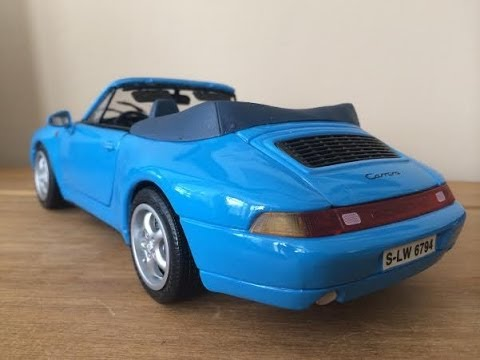 bburago porsche 911 carrera cabriolet 1994