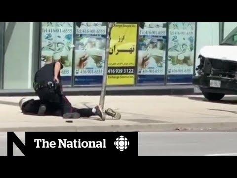 Non-violent arrest of van attack suspect praised
