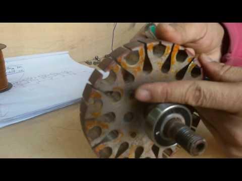 How to make ceiling fan basket rewinding   fan opening method and start winding 