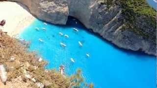 Navagio Beach - Shipwreck, Zakynthos Island (Greece) - Top View