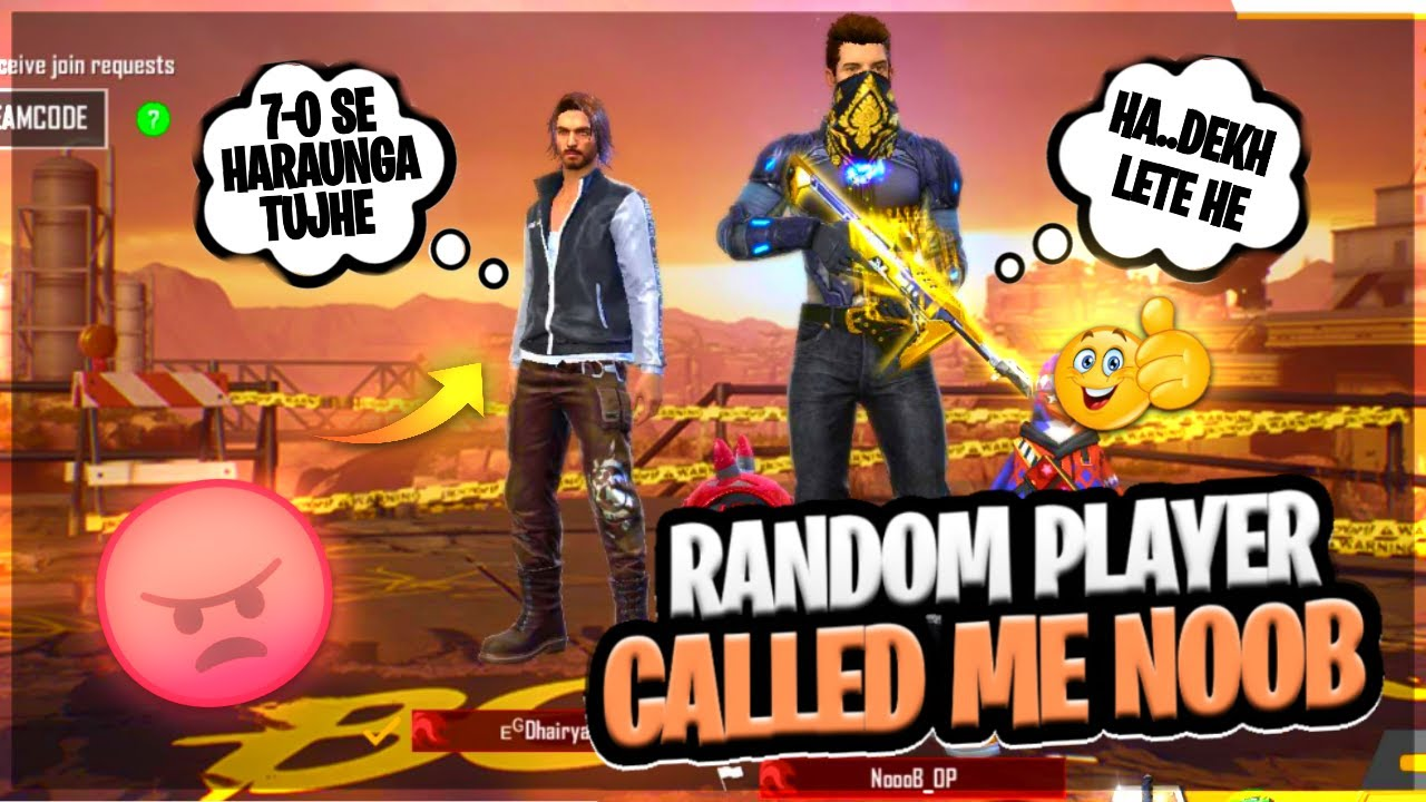 Random Player Called Me NOOB || आजा 1vs1 में  || Free Fire || Desi Gamers