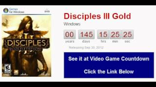 Disciples III Gold PC Countdown