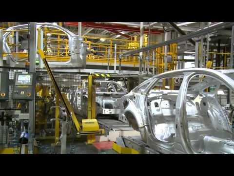 Jaguar XJ production line B-roll