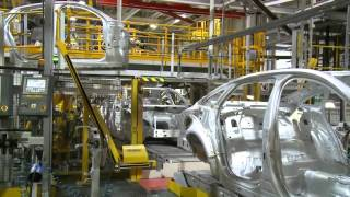 Jaguar XJ production line B-roll