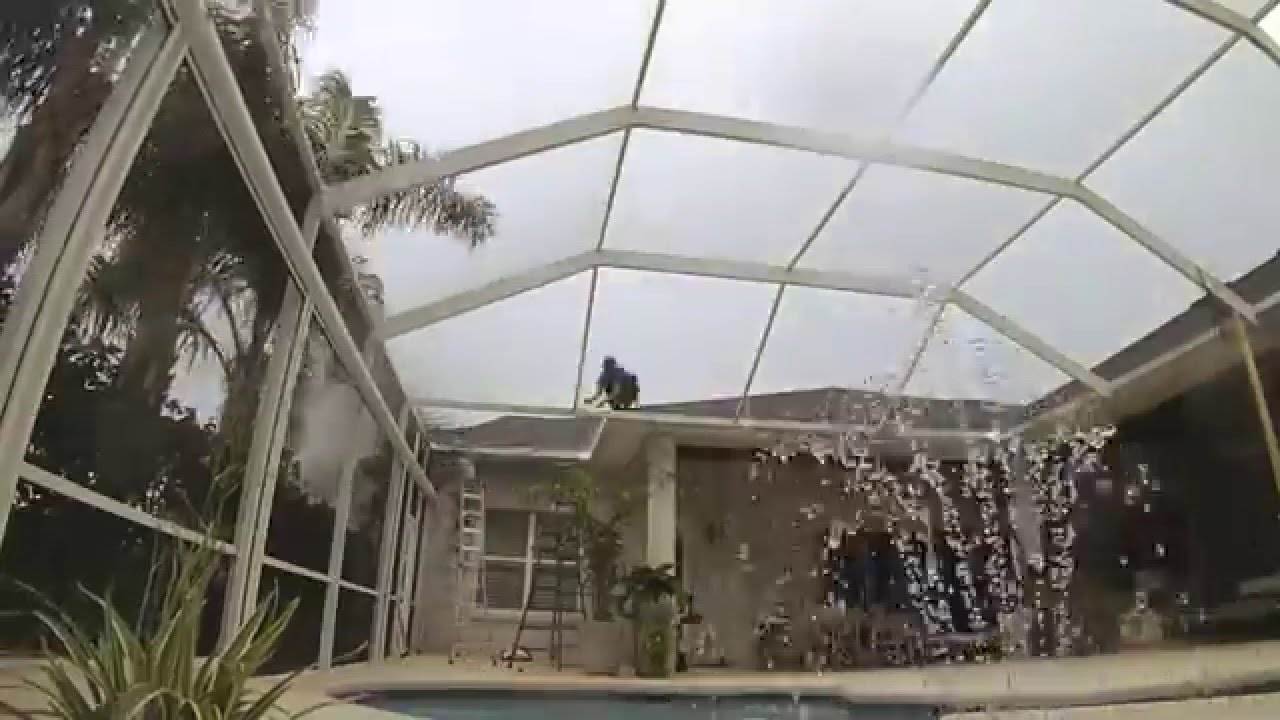 Super Gutter Replacement On Pool Enclosure Time Lapse By