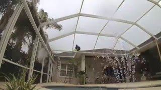 Super Gutter Replacement On Pool Enclosure Time Lapse By Mr Screen Repair Youtube