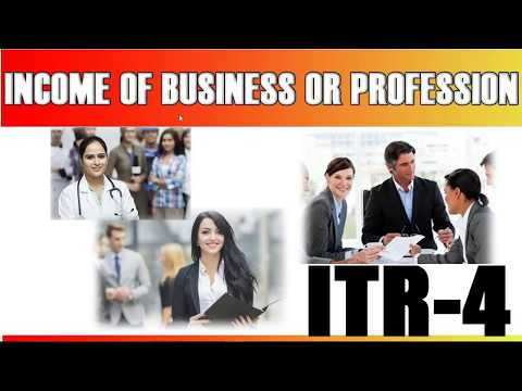 ITR 4 Return    How To Fill ITR4    Income from Business & Profession    PGBP   