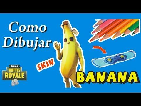 download como dibujar skin banana fortnite how to draw the banana facil - fortnite para dibujar banana