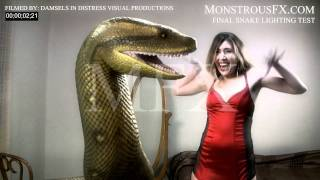 Sexy Snake Animation - CG-Live-Action-Beleuchtung Test MonstrousFX.com