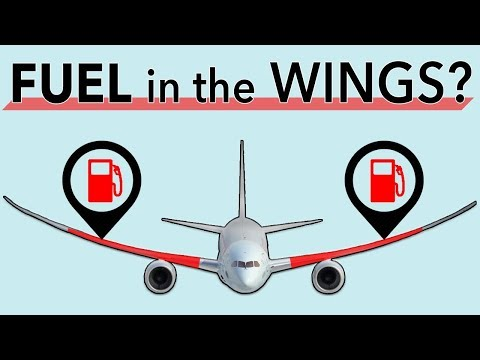 Why do aircraft store fuel in the wings?