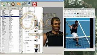 Full Ace tennis simulator PC - Editor mode - HD
