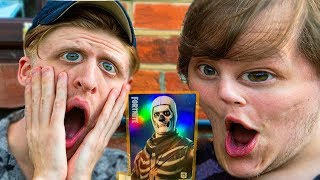 LEGENDARY SKULLTROOPER !! (Fortnite Trading Card Game Unboxing)