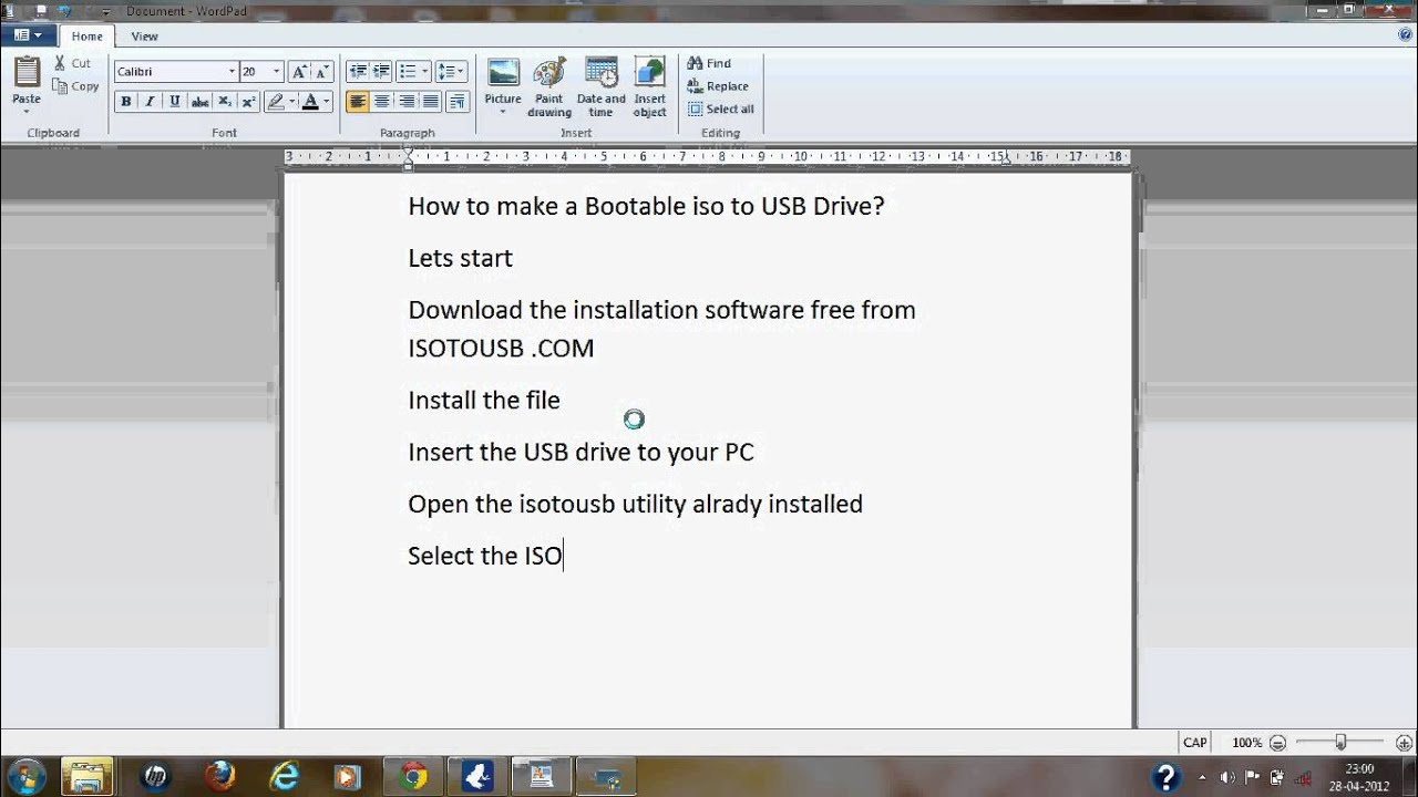 How to create bootable USB from an ISO image