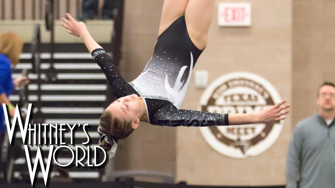 Whitney Bjerken on Floor Exercise | Level 8 Gymnastics | Texas Prime ...