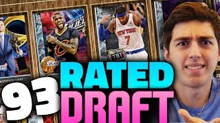 first 93 rated draft ever nba 2k16 draft and play