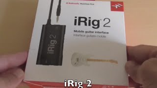 Unboxing and quick setup of iRig 2 on iPad with Garageband