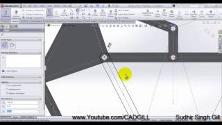 Theo Jansen Stranded Beast Mechanism SolidWorks Video Tutorial Part 02