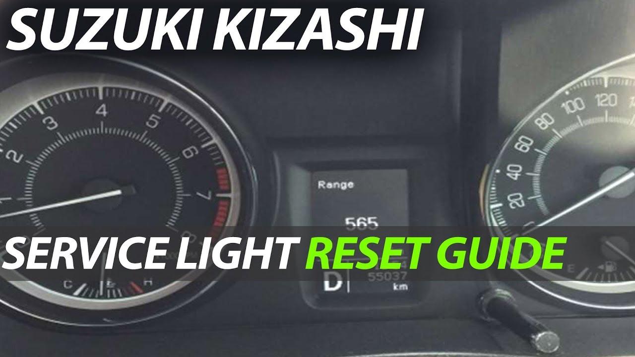 SUZUKI KIZASHI - Oil Light Service light Reset