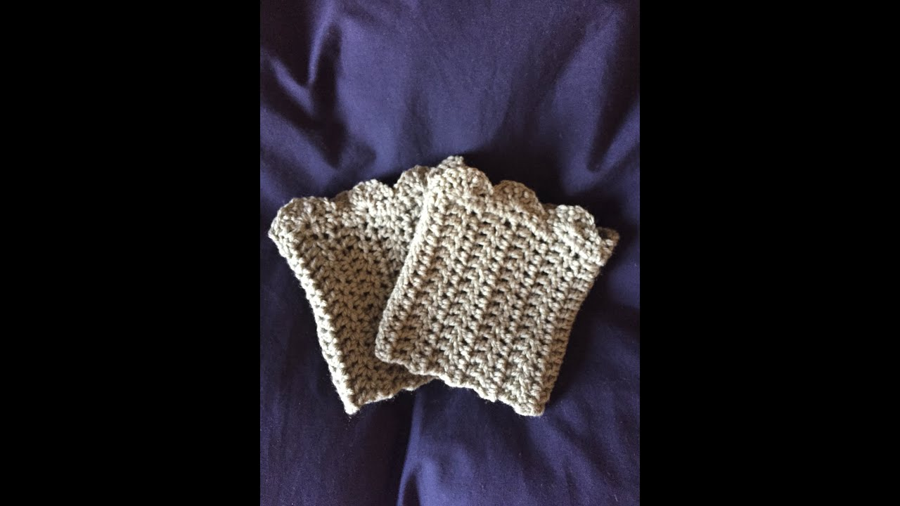 Diy how to crochet boot cuffs youtube bankloansurffo Images