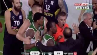 Vesely'nin faulü kavga çıkardı Fenerbahçe Yeşilgiresun Belediyespor Maci