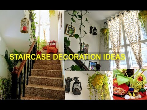 How To Decorate Staircase Staircase Decoration Ideas With Plants