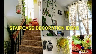 How To Decorate Staircase/staircase Decoration Ideas With Plants