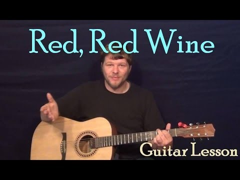 Red Red Wine Neil Diamondub40 Easy Strum Guitar Lesson How To