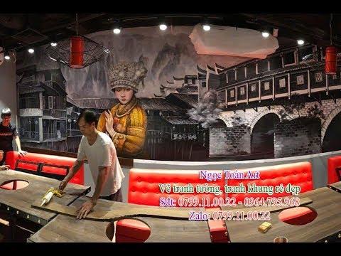 Vẽ tranh tường nhà hàng, quán ăn phong cách Hàn Quốc, Nhật Bản, Trung Hoa ở Hà Nội