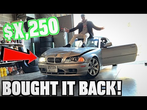 We Bought Our Wrecked BMW Back From Insurance? (Super Cheap)